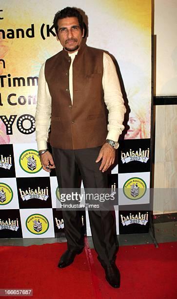 Indian actor Mukesh Rishi at Baisakhi Celebration cohosted by G S Bawa and Punjab Association Of India on April 13 2013 in Mumbai India
