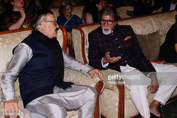 Indian actor Parikshat Sahni and Amitabh Bachchan attend the nonconformist Memory of Balraj Sahni legendary actor Balraj Sahni's first ever biography...