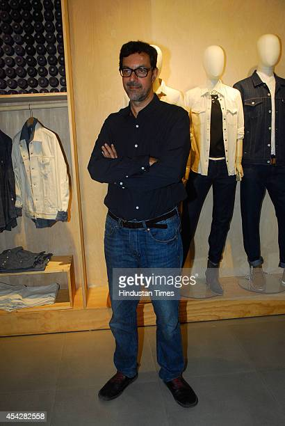 Indian actor Rajat Kapoor during the preview and launch of Khadi Collection by Levis on August 26 2104 in Mumbai India