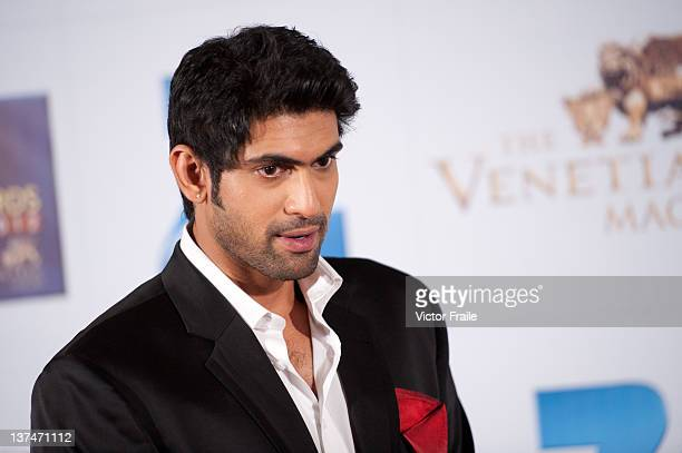 Indian actor Rana Daggubati attends red carpet during the Zee Cine Awards 2012 ceremony at The Venetian MacaoResortHotel on January 21 2012 in Macau