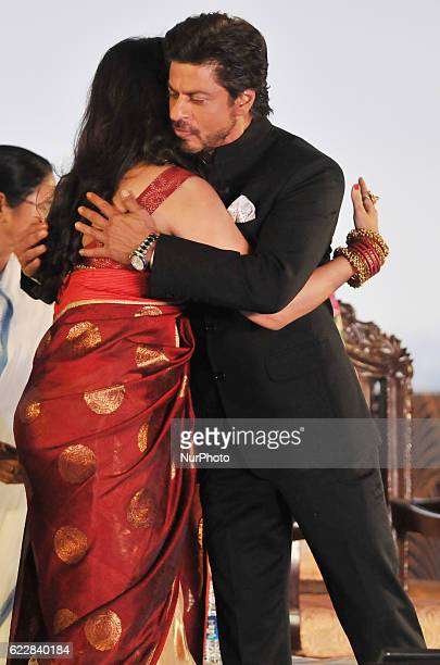 Indian Actor Shah Rukh Khan and Actress Rituparna Sengupta at the 22nd Kolkata International Film Festival Inauguration ceremony at Kolkata Netaji...
