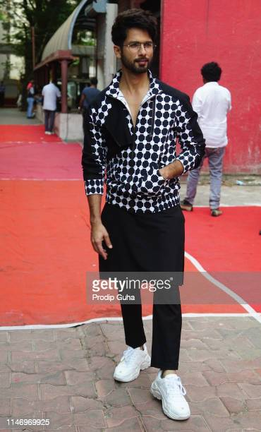 Indian actor Shahid Kapoor attends the episod shoot of BFFs with vogue on May 4 2019 in Mumbai India