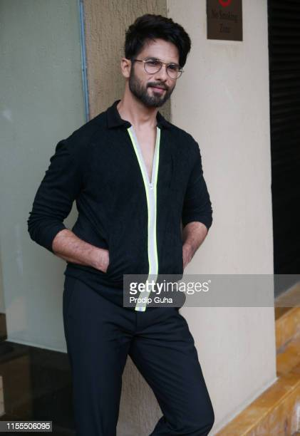 Indian actor Shahid Kapoor attends the media interview for film Prootion of film n'Kabir Singh JUNE 12 2019 in Mumbai India