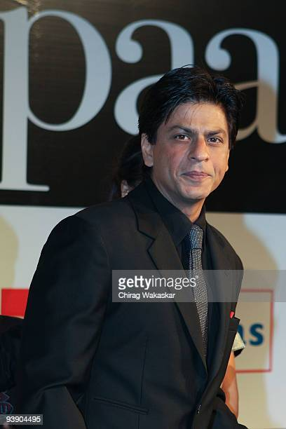 Indian actor Shahrukh Khan attends the Premiere of Paa held at Big Cinemas on December 3 2009 in Mumbai India
