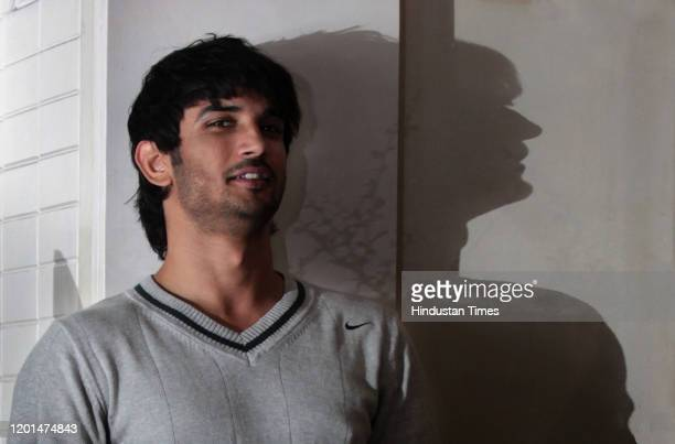 Indian actor Sushant Singh Rajput poses during a profile shoot, on January 28, 2013 in Mumbai, India.