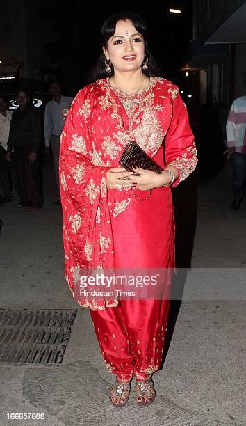 Indian actor Upasna Singh at Baisakhi Celebration cohosted by G S Bawa and Punjab Association Of India on April 13 2013 in Mumbai India