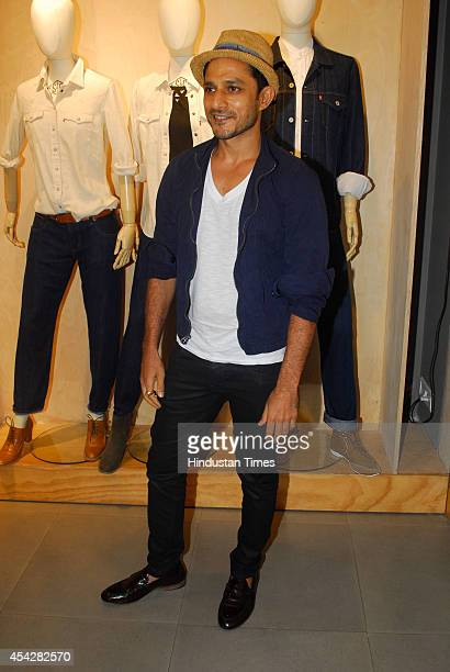 Indian actor Yudhishtir Urs during the preview and launch of Khadi Collection by Levis on August 26 2104 in Mumbai India