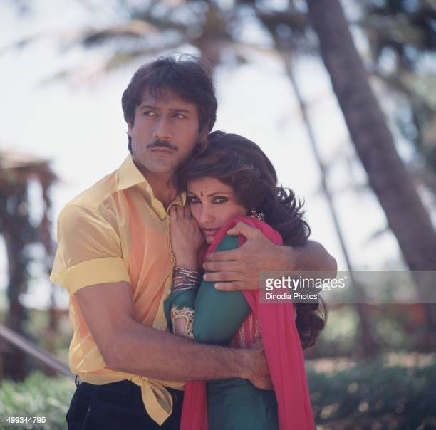 1981 Portrait of Jackie Shroff and Dimple Kapadia