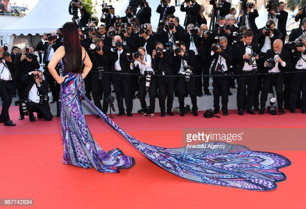Indian actress Aishwarya Rai arrives for the screening of the film 'Girls of the Sun in competition at the 71st Cannes Film Festival in Cannes France...