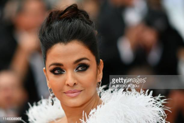 """Indian actress Aishwarya Rai Bachchan arrives for the screening of the film """"La Belle Epoque"""" at the 72nd edition of the Cannes Film Festival in..."""