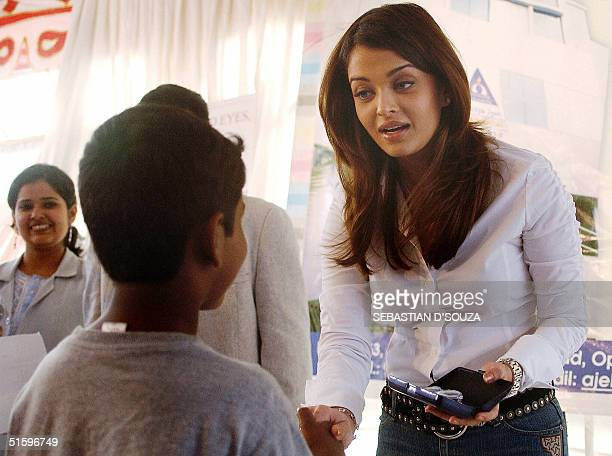 Indian actress Aishwarya Rai celebrates her birthday by distributing free spectacles to needy patients at the Aditya Jyot Eye Hospital in Bombay28...