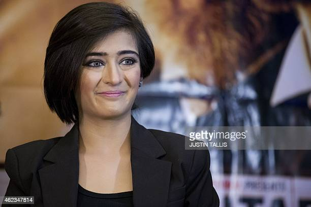 Indian actress Akshara Haasan attends a press conference to promote the film 'Shamitabh' in central London on January 27 2015 AFP PHOTO / JUSTIN...