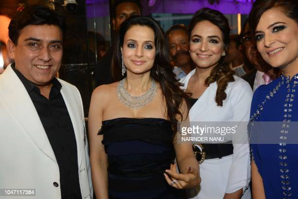 Indian actress Ameesha Patel arrives to attend a promotional event for a jewellery brand in Amritsar on October 7 2018