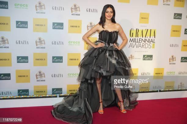 Indian actress Ananya Pandey attends Grazia Millennial Awards on June19, 2019 in Mumbai, India.