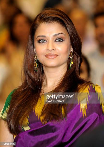 Indian actress and former Miss World Aishwarya Rai Bachchan poses as she attends the 57th National Film Awards Function in New Delhi on October 22...