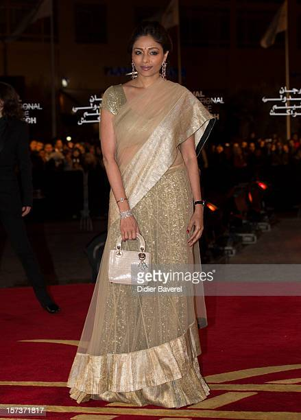 Indian actress and jury member Sharmila Tagore attends the Tribute to Hindi Cinema ceremony at the 12th Marrakech international Film Festival on...