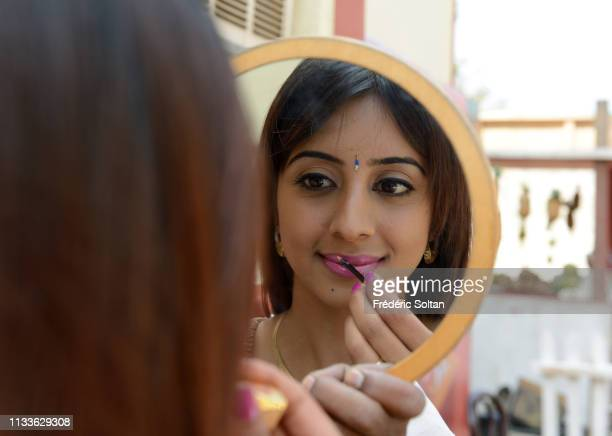 Indian actress and model Archana Galrani aka Sanjjanaa during a movie set in Ramoji Film City the largest integrated film city and also a popular...