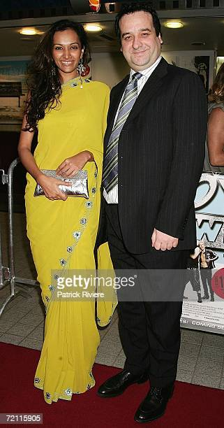 Indian actress and model Bipannica Sharma and actor Mick Molloy arrive at the Sydney premiere of new comedy 'BoyTown' at the Greater Union George...