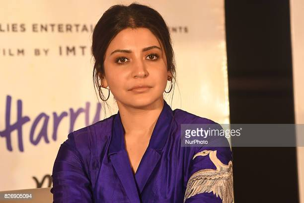 Indian Actress Anushka Sharma at the press conferences at the Film director Imtiaz Ali upcoming film Jab Harry Met Sejal promotion on August 052017...