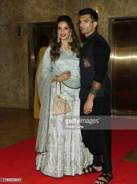 Indian actress Bipasha Basu and Karan Singh Grover attends the film producer Ramesh Taurani's Diwali bash on October 23, 2019 in Mumbai, India.