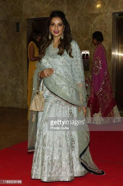 Indian actress Bipasha Basu attends the film producer Ramesh Taurani's Diwali bash on October 23, 2019 in Mumbai, India.