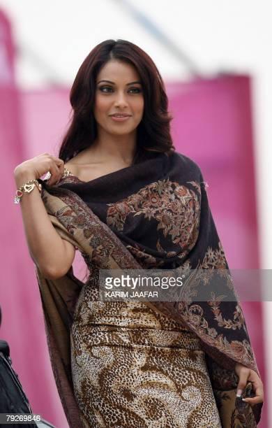 Indian actress Bipasha Basu attends the Qatar Masters Golf Tournament in Doha, 26 January 2008. AFP PHOTO/KARIM JAAFAR