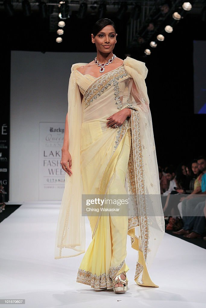 Indian actress Bipasha Basu walks the runway in an Gianttil design at the at Grand Hyatt Hotel on March 5 2010 in Mumbai India