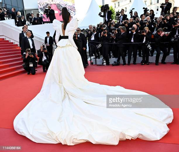 Indian actress Deepika Padukone arrives for the screening of the film 'Rocketman' during the 72nd annual Cannes Film Festival in Cannes France on May...