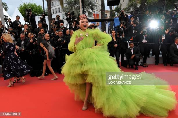 TOPSHOT Indian actress Deepika Padukone arrives for the screening of the film Dolor Y Gloria at the 72nd edition of the Cannes Film Festival in...