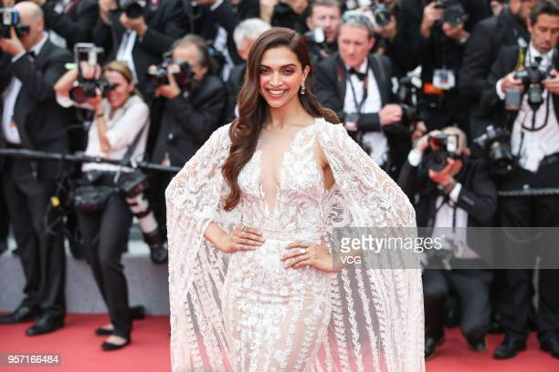 Indian actress Deepika Padukone attends the screening of 'Sorry Angel ' during the 71st annual Cannes Film Festival at Palais des Festivals on May 10...