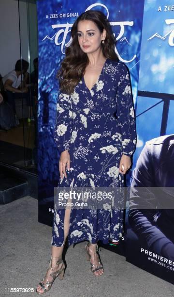 Indian actress Dia Mirza attends the Screening of Kaafir Indian web series on June 14 2019 in Mumbai India