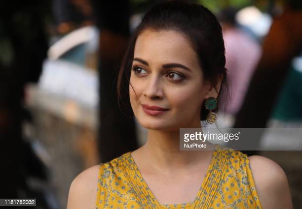 Indian actress Dia Mirza looks on during the launch of an initiative 'Exceed Cares' in Mumbai India on 11 November 2019 The initiative facilitate...