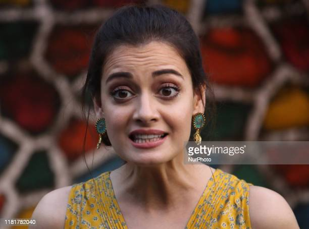 Indian actress Dia Mirza reacts during the launch of an initiative 'Exceed Cares' in Mumbai, India on 11 November 2019. The initiative facilitate...