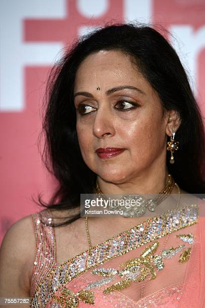 Indian Actress Hema Malini attends the 2007 Bangkok International Film Festival Opening Ceremony July 19 2007 at SF World CinemaCentralWorld in...