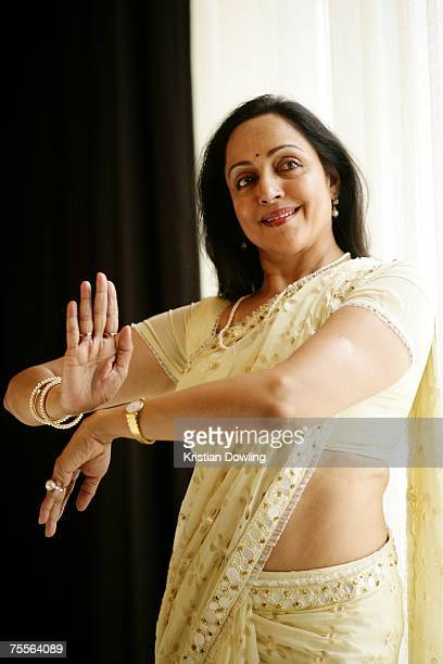 Indian actress Hema Malini poses during a portrait session on Day 2 of the 2007 Bangkok International Film Festival July 20 2007 at SF World...