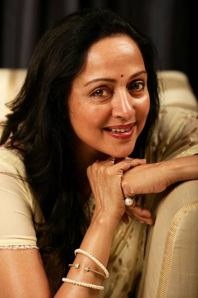 Indian actress Hema Malini poses during a portrait session on Day 2 of the 2007 Bangkok International Film Festival at SF World Cinema, CentralWorld...