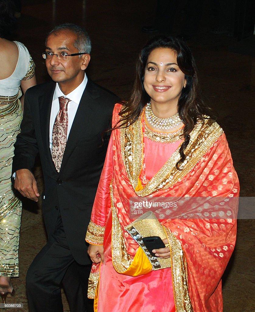 Indian Actress Juhi Chawla R And Jai Mehta Attend Raj Kundra Bollywood