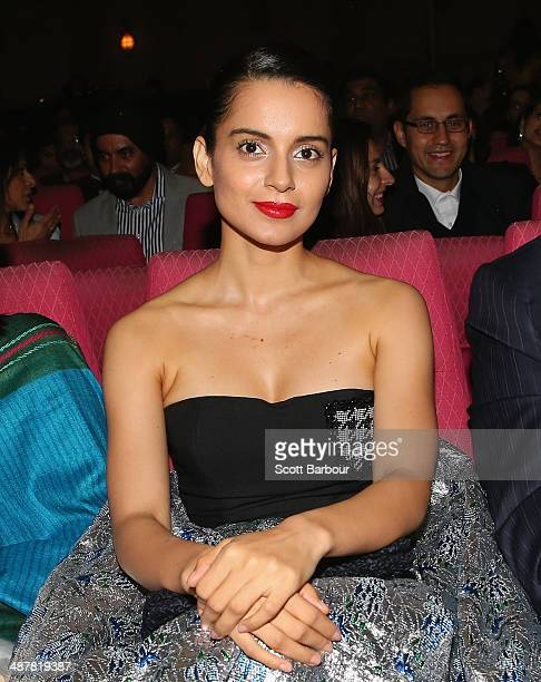 Indian actress Kangana Ranaut poses during the Indian Film Festival of Melbourne Awards at Princess Theatre on May 2 2014 in Melbourne Australia