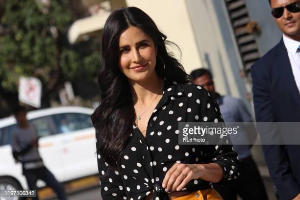 Indian actress Katrina Kaif arrives for a promotional event in Mumbai, India on 28 January 2020.