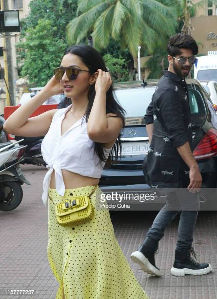 Indian actress Kiara Advani attend a meet with public in PVR theater for movie Kabir Singh on June 23 2019 in Mumbai India