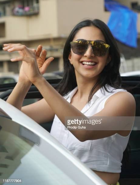 Indian actress Kiara Advani attends a meet with public in PVR theater for movie Kabir Singh on June 23 2019 in Mumbai India