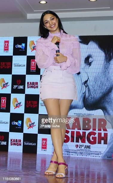 Indian actress Kiara Advani attends the Song launch of film Kabir Singh on June 6 2019 in Mumbai India