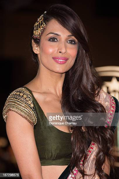 Indian actress Malaika Arora Khan arrives for the tribute to Hindi cinema at the 12th Marrakech International Film Festival on December 1 2012 in...