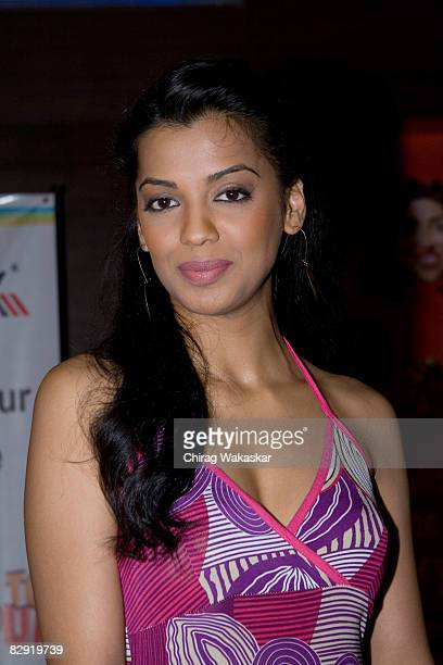Indian actress Mugdha Godse attends the premiere of Welcome to Sajjanpur at Cinemax Versova on September 18 2008 in Mumbai India