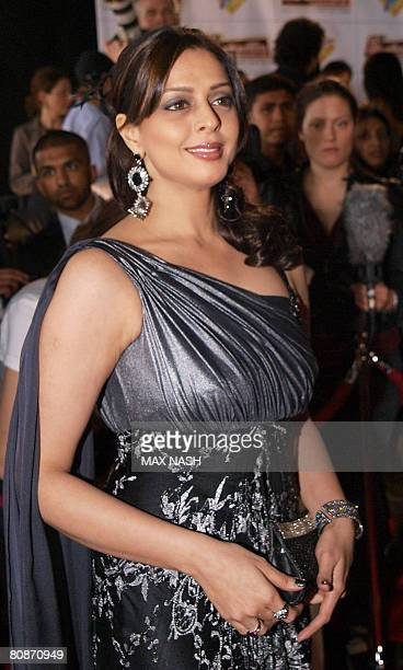 Indian actress Nagma arrives for the Zee Cine film awards 2008 at the ExCel center in London on April 26 2008 AFP Photo / Max Nash