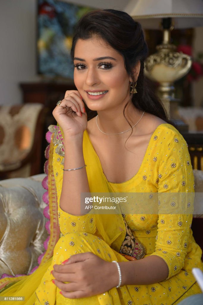 Indian actress Payal Rajput poses for a photograph during a promotional event for the forthcoming Punjabi film `Channa Mereya` in Amritsar on July 9..