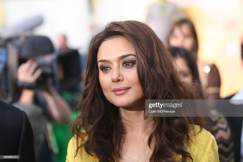Indian actress Preity Zinta arriving at the International Indian Film Academy Awards ceremony at the Hallam Arena in Sheffield for the annual IIFA...
