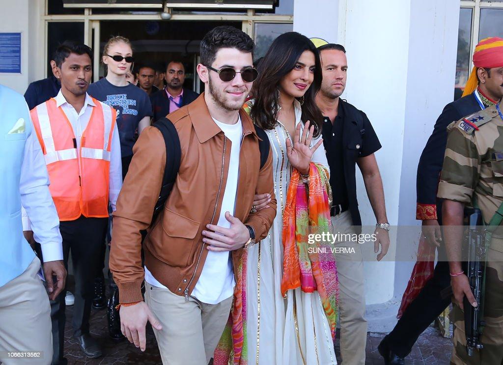 INDIA-US-ENTERTAINMENT-CELEBRITY-WEDDING : Foto di attualità
