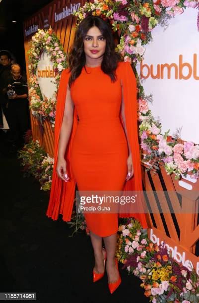 Indian actress Priyanka Chopra attends the new campaign of social networking app Bumble on June 13, 2019 in Mumbai, India.