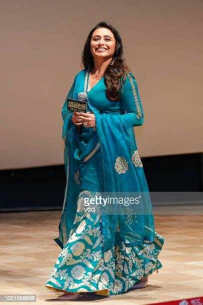 Indian actress Rani Mukerji attends an after-screening event of film 'Hichki' on October 8, 2018 in Beijing, China.